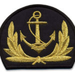Sailor Badge Embroidered with metallic thread