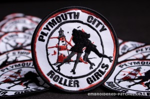 Plymouth City Roller Girls Embroidered Patch-4834