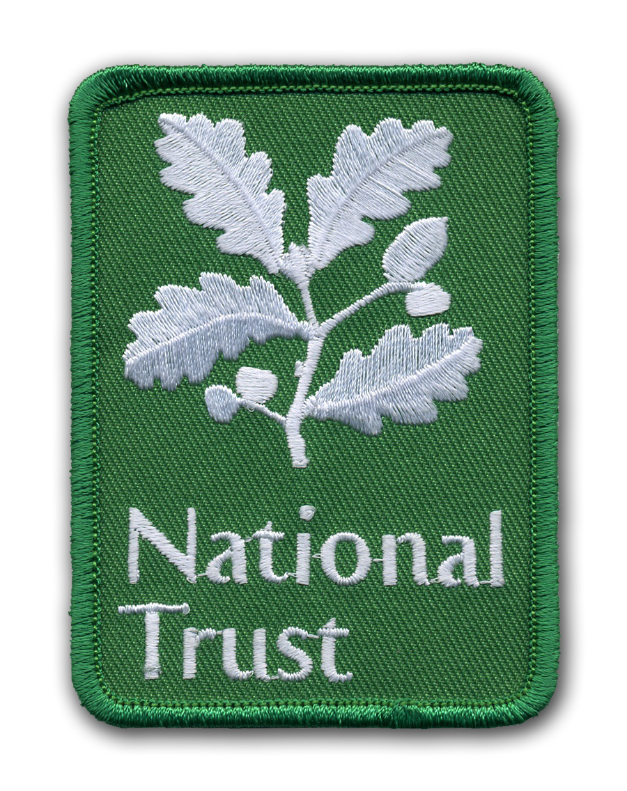 Custom Embroidered Patches Best Quality Merrow Border The National Trust Patches 100