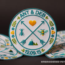 Custom wedding patches for ANT&DEB