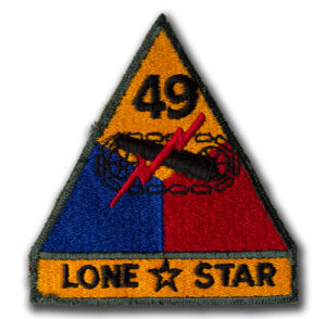 Original US 49th Armored Lone Star Color Patch
