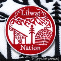 Round Líl̓wat Nation logo emblems