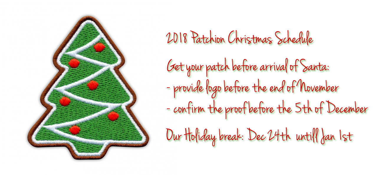 Christmas Schedule - Custom Embroidered Patches | Best Quality ...