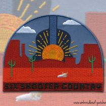 The Six Shooter Country Custom Patches
