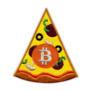 Bitcoin Pizza Day Embroidered Patch