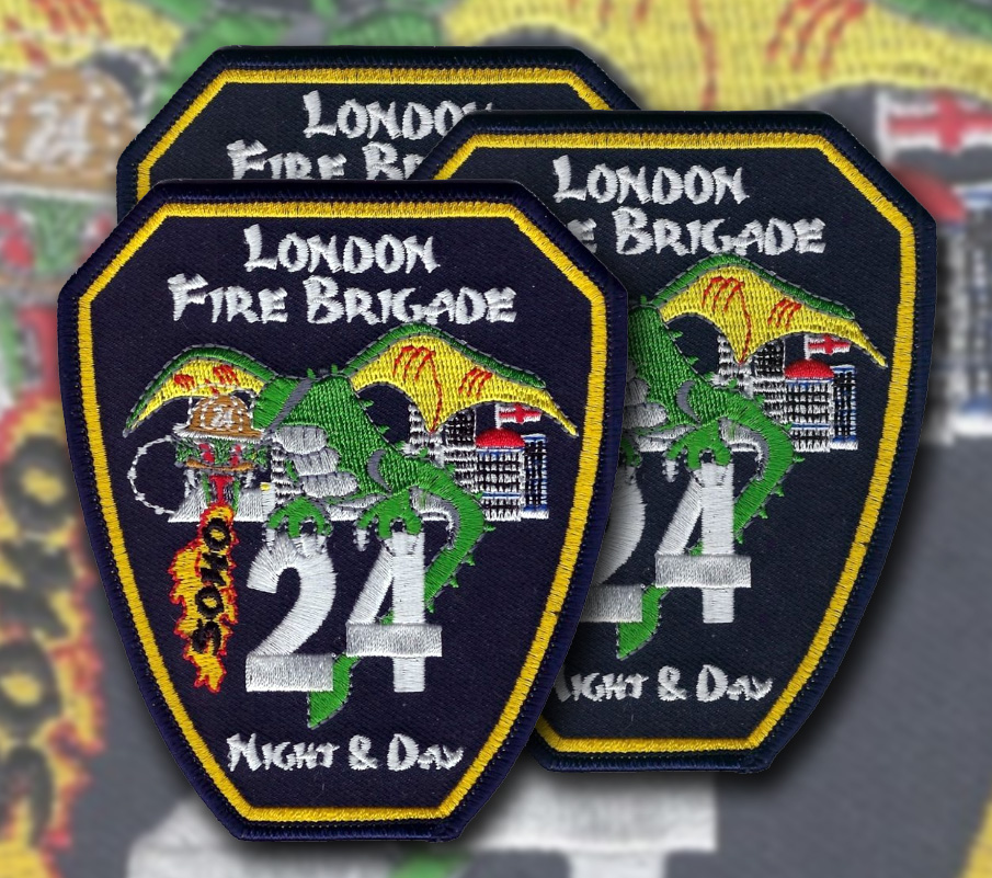 London Fire Brigade Patches presentation.